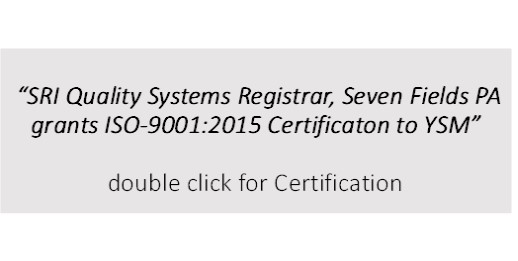 Youngstown Specialty Metals, Inc. ISO certification